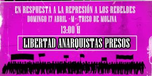 Comunicado  sobre la última operación represiva en Barcelona y en solidaridad con la compañera encarcelada en la prisión de Soto de Real